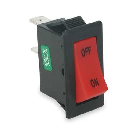 Buy Rocker Switch,spst,connections 2,on Off,1 4  Quick Connect,12a