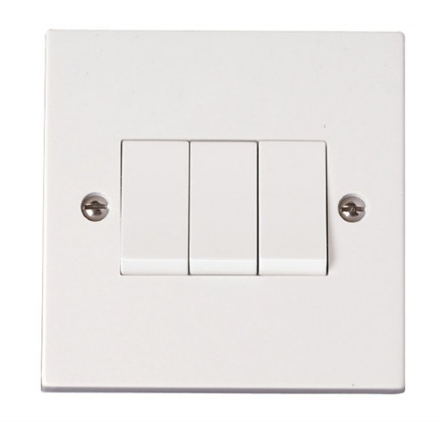 Click Polar 3 Gang 2 Way Light Switch [prw013]   Mas