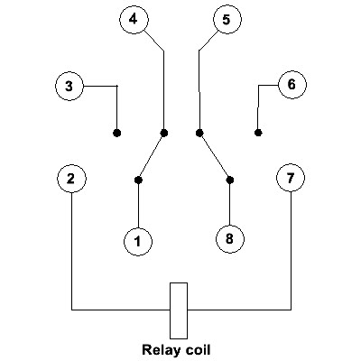 connection diagram for an 8 pin and 11 pin relay