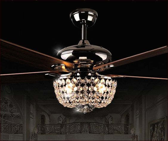 Crystal Chandelier Ceiling Fan Combo …