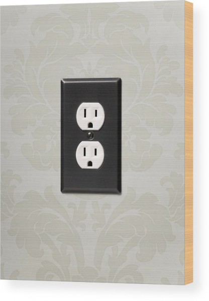 Double Electrical Outlet On Wall, Close