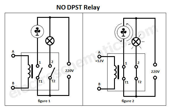 Double Pole Single Throw Dpst Relay