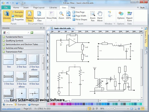Easy Schematic Drawing Software Luxury Free Electrical Wiring
