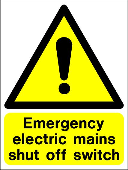 Emergency Electric Mains Shut Off Switch  Ref  W215