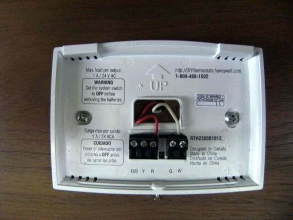 How To Remove Honeywell Thermostat Cover E Heat And Cool Non