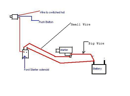 How To Wire Up A Push Button Starter In 22re