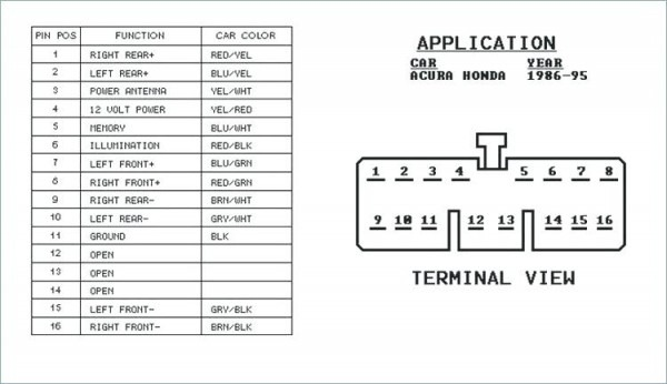 Alpine Radio Wiring Diagram 1993 Honda Accord
