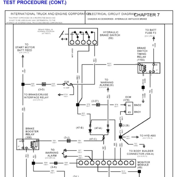 International 7600 Wiring Diagrams