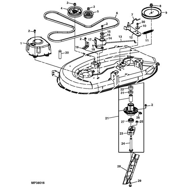 L110 Mower Deck Diagram
