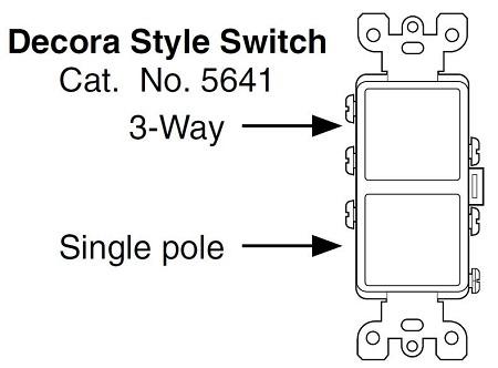 Leviton Decora Combination Stacked Single Pole   3