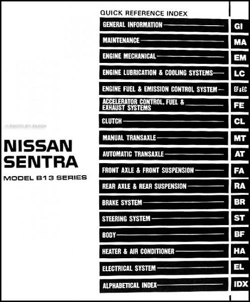 1994 Nissan Sentra Wiring Diagram