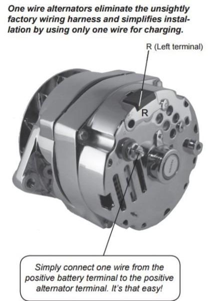 One Wire Alternator Wiring Diagram Mopar