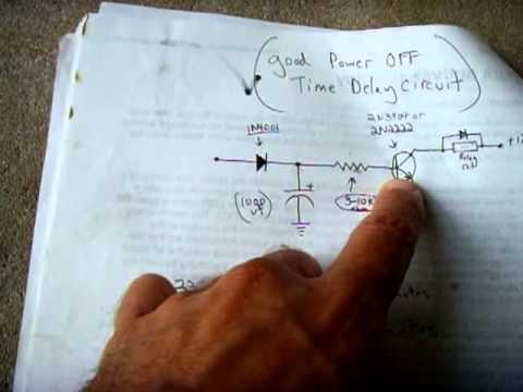 Power Off Time Delay Relay Circuit