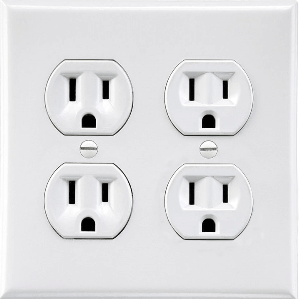 Prank Double Power Outlet Sticker