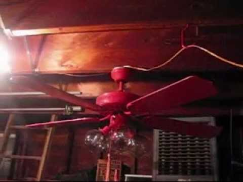 Red Air Cool 52  Ceiling Fan