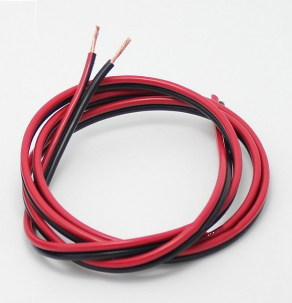 Red Black Copper Wire 2x1 5 Led Strip Monitor Power Cable Speaker