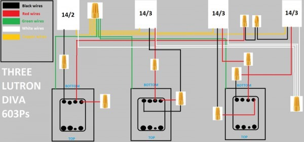 Replacing 3 Diva Switches And 2  3 Way  Switches With Grafik Eye