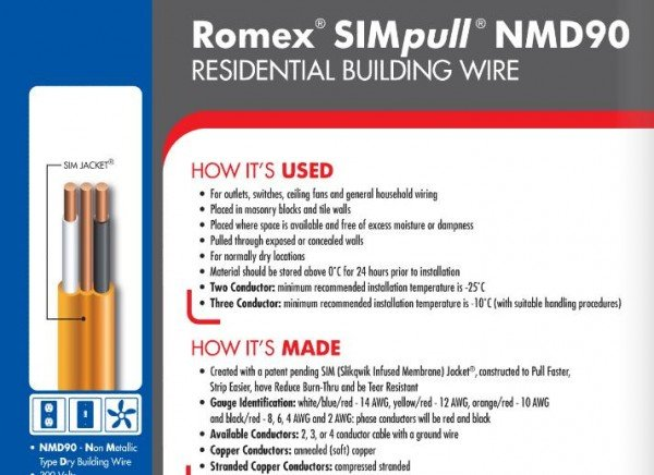 Romex Wire Specifications