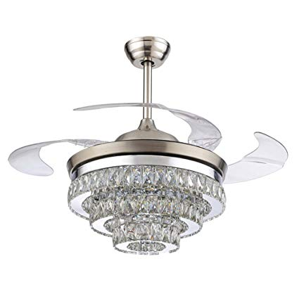 Rs Lighting European Crystal Ceiling Fan Light Kit