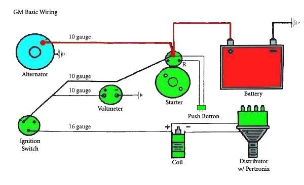 One Wire Alternator Diagram