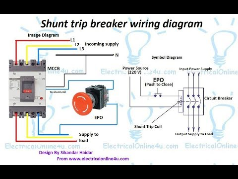 Shunt Trip Breaker Wiring Diagram In Urdu & Hindi