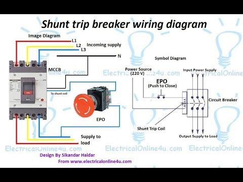 Shunt Trip Breaker Wiring Diagram In Urdu & Hindi
