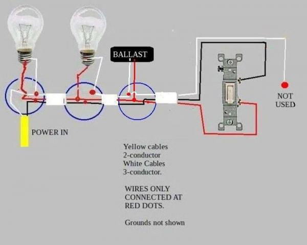 Switch Wiring Diagram Power Light