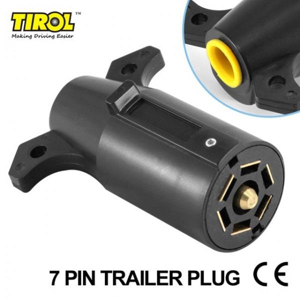 Tirol T21847d 7 Pin Trailer Plug Plastic 7 Way Blade Round