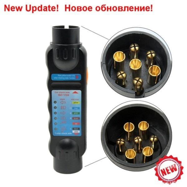 Update 7 Pin Car Towing Truck Trailer Plug Socket Tester Wiring