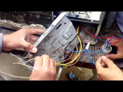 Window Ac Wiring Connection According To Diagram Urdu Hindi