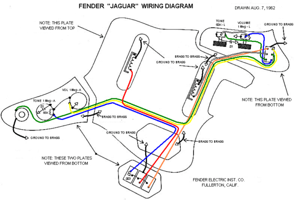Wiring Diagram For Fender Jaguar Guitar