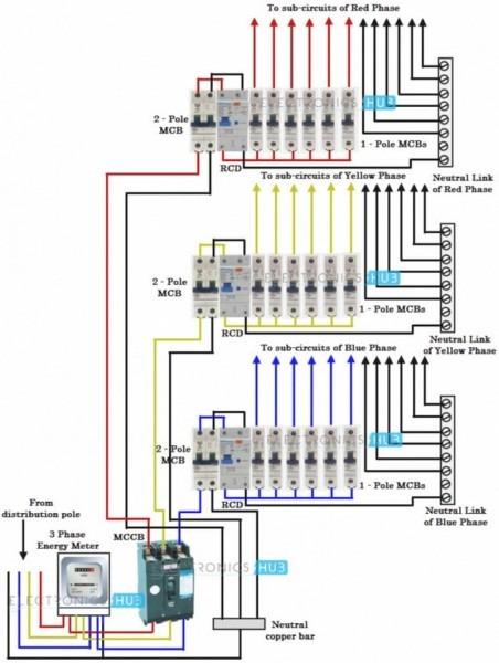 Wiring Schematic 3 Phase Circuit