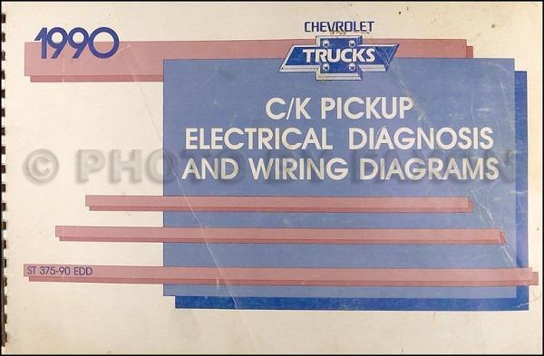 1990 Chevy C K Pickup Wiring Diagram Manual Original