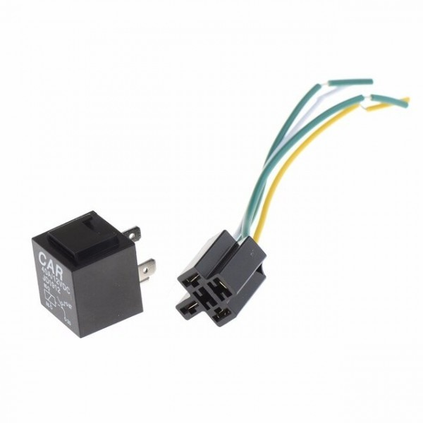 1pc 12v 12volt 40a Auto Automotive Relay Socket 40 Amp 4 Pin Relay