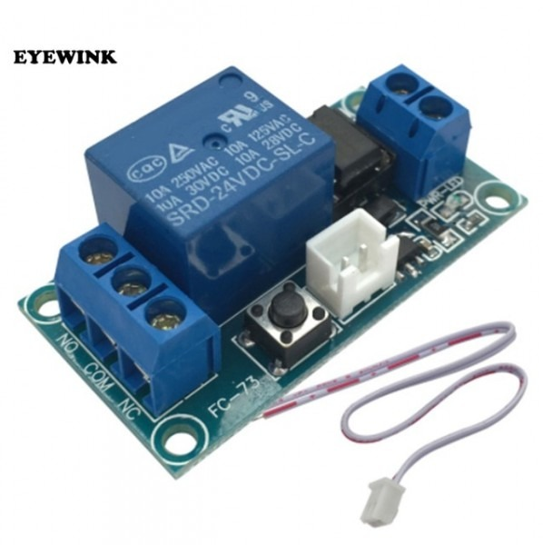 1pc 1 Channel 24v Latching Relay Module With Touch Bistable Switch