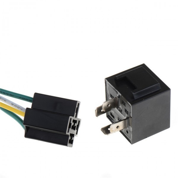 1pcs 12v 12volt 40a Auto Automotive Relay Socket 40 Amp 4 Pin