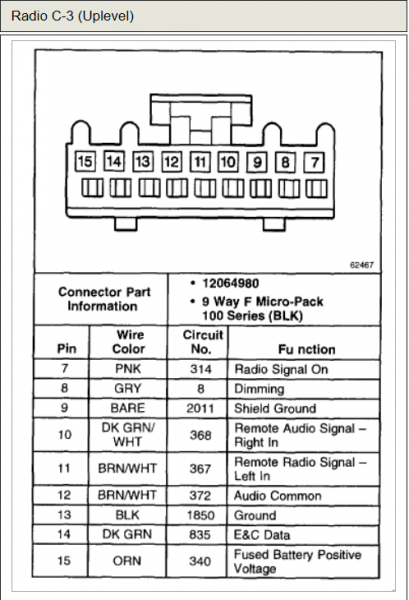 2000 Chevy Venture Radio Wiring Diagram