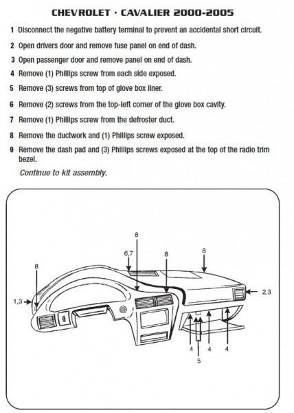 2003 Chevy Cavalier Radio Wiring