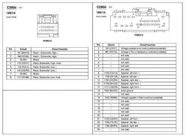 2005 Mustang Radio Wiring Diagram