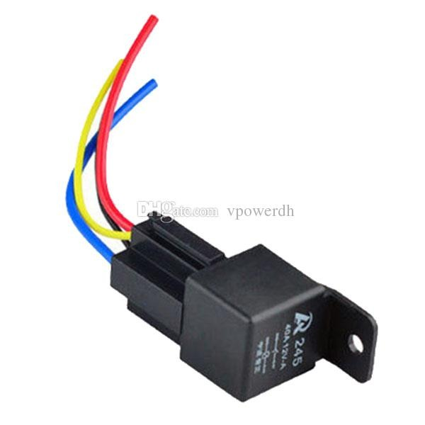 2019 12v 12volt 40a Auto Automotive Relay Socket 40 Amp 4 Pin