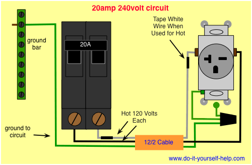 220v Breaker Wiring Diagram