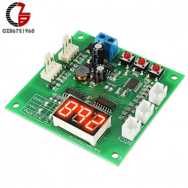2 Channel 4 Wire Pwm Fan Temperature Controller Pc Fan Motor Speed