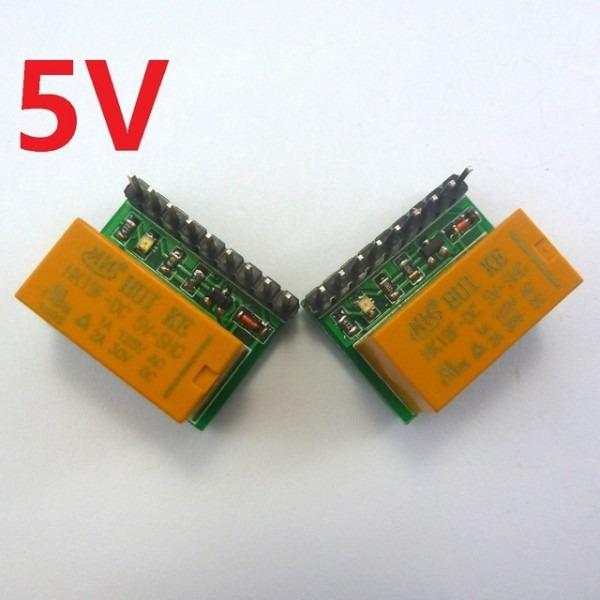 2pcs Mini 1 Channel 5v Dc Dpdt Relay Board Double Pole Double