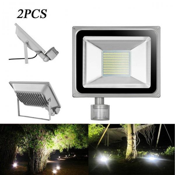 2pcs Pir Led Flood Light Motion Sensor Outdoor Lighting 100w