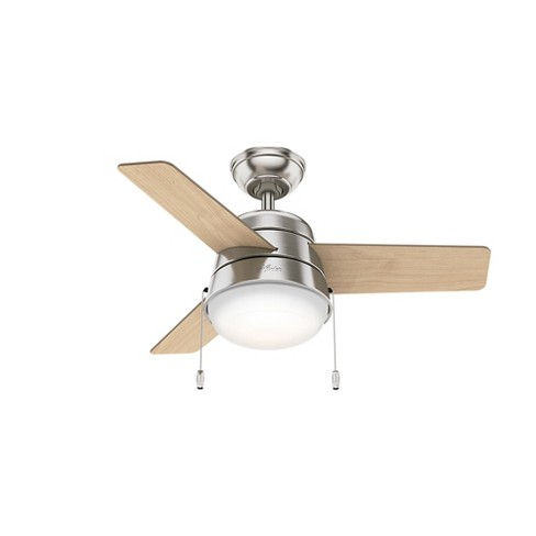 36  Aker Led Lighted Ceiling Fan Brushed Nickel