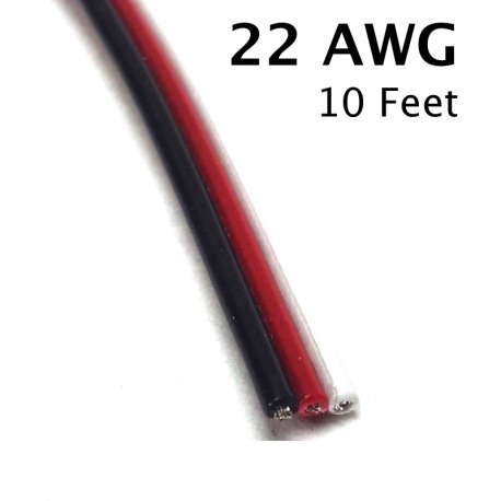 3 Conductor Wire, 22 Awg, 10 Feet