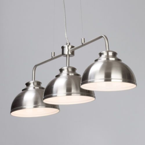 3 Way Pendant Bar Hanging Ceiling Fitting Satin Chrome Clearance