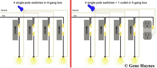 Double Gang Light Switch Wiring Diagram