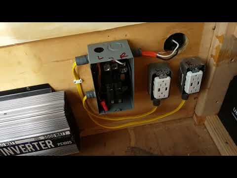 6x12 Enclosed Trailer Conversion Electrical Power