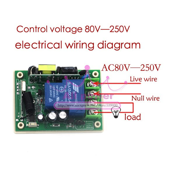Ac220v 1ch Rf Switch Learning Code 315mhz Lighting Controllers